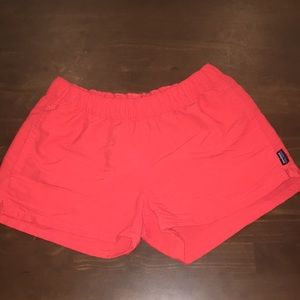 coral women's Patagonia shorts